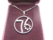 Lido Gems 2.25 carets pendant necklace Cubic Zirconia 76 silver tone chain