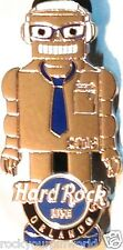 Hard Rock Live ORLANDO 2013 ROBOT Boy SILVER PIN with BLUE TIE - NEW in HRC Bag!