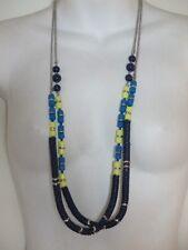 Lot of 8 Ann Taylor Loft Silver Snake BLUE YLW Bead SLVR Long Necklace NWOT $39.