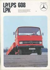 1974 Mercedes Benz LP608 LPS608 LPK608 6-6.5 Ton Truck Brochure German ws4975-TN