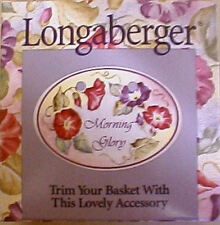 LONGABERGER RETIRED 2000 MORNING GLORY TIE ON -NEW-SHOP STORE TODAY !