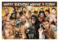 Large A5 Glossy Personalised Wrestling Superstars Birthday Card