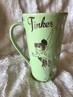 TINKERBELL DISNEY STORE Retired Coffee Mug Green Silver Cup Fairies Cup Latte