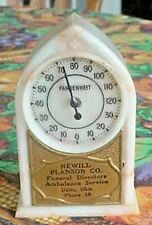 VINTAGE 1930`S DELTA,OHIO NEWILL PLANSON UNDERTAKER FUNERAL HOME THERMOMETER