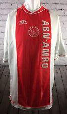 AJAX AMSTERDAM FOOTBALL SHIRT ORIGINAL UMBRO HOME SHIRT 1999-2000 SEE DESCRIPTIO
