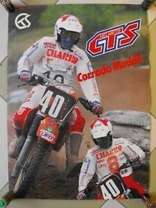 Poster Motocross Corrado Maddii Helme GTS Helmets Promozioale Werbung' 80s