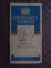 "Ordnance Survey 2.5"" Map 41/SU53 Alresford 1948 Micheldever Easton Martyr Wort"