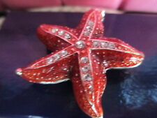 Scarlett The Star Fish ~ Jeweled & Enamel Trinket Box ~ Boutique Miniature 61152