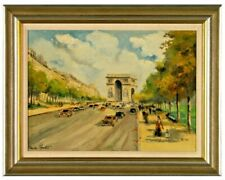 "Charles Blondin 1913-1991 "" Champs Elysees "" Oil CERTIFICATE OF AUTHENTICITY!!!"