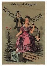 KING BITTERS CO ROCHESTER NY VICTORIAN TRADE CARD 25 CENT