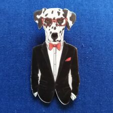 Hipster Dog Brooches Pin Printed Cartoon Acrylic Brooch Gift Accessories