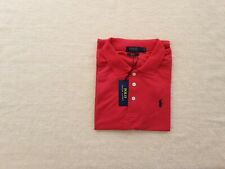 New Ralph Lauren Polo Shirt Slim Fit Red Unisex  With Tags