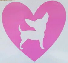Chihuahua Heart Yeti/Tumbler Decal Window/Car ***AVAILABLE 20 COLORS***