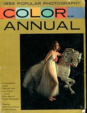 Popular Photography Magazine Color Annual 1959 GD No ML 121016jhe