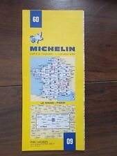 MICHELIN FOLDING SHEET TOURIST MAP 60 FRANCE - LE MANS - PARIS