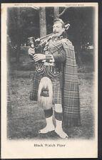 Scottish Military Postcard - Black Watch Piper  RT208
