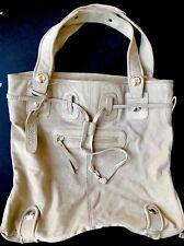 Gustto Parina Tote Shoulder Large Bag Purse Beige/Tan Suede NWOT