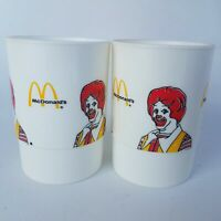 Ronald McDonalds 1985 Drinking Cups 2-Pieces 3.5-Inch Long