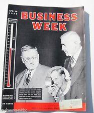 1938 Business Week Magazine April 16 Stocks Bonds Fine+ Grade Vintage McGraw