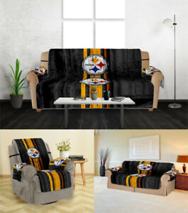 Pittsburgh Steelers Sofa Cover 1 2 3 Seater Couch Protector Loveseat Slipcover