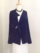 ELM DESIGN Avant Garde Black Jacket with Self Belt Clasp $495 Size 2 M NWT