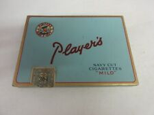 VINTAGE ADVERTISING EMPTY PLAYERS FLAT 50 CIGARETTE  TOBACCO TIN   582-