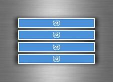 4x sticker decal car stripe racing flag moto tuning onu united nations