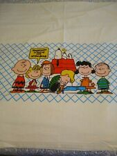 Vintage 1978 Twin Flat Sheet Charlie Brown Happieness is Being One Of The Gang