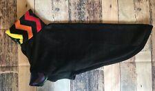 "Greyhound Pajamas- Black Rainbow 28"" Back, Sighthound Fleece Pjs Sweater Coat"