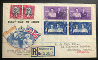1947 Pretoria South Africa First Day Cover To Southampton Royal Family Visit B