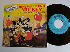 "BON WEEK-END MICKEY générique TF1 - DISNEY CHANNEL 7"" 45T 1985 DISNEYLAND VS 655"