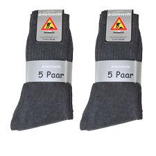 20 Paar Herren Arbeits Socken 92% BW anthrazit Neu Größe 43/46  Art542