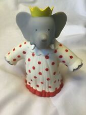 "BABAR THE ELEPHANT 1991 CELESTE QUEEN WIFE 7"" TALL VINYL FIGURE"