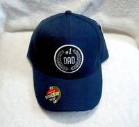 Dad #1, Navy Blue, Polyester Ball Cap