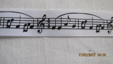 BTY Musical Notes Grosgrain Ribbon 7/8 Inch