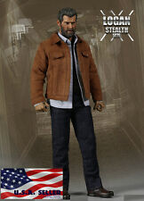1/6 Wolverine Logan Leather Jacket Jeans Set For X-Men Hot Toys ❶USA IN STOCK❶