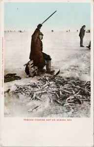 Bering Sea Tomcod Fishers Fishermen Mitchell Postcard G73