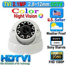 LEXAcctv HD Sony Starvis 2.1MP 1080P 2.8-12mm TVI Camera Color Night Vision !