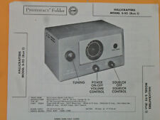 HALLICRAFTERS S-95 - SCHEMATIC & PARTS ID - SAMS PHOTOFACT #314-7 - RADIO 1956