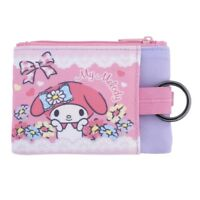 Sanrio My Melody Two-Zipper Coin Purse Pouch with Key Ring, Pink (9-7132-2)