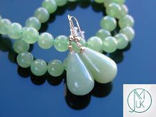 Green Aventurine Natural Gemstone Earrings Drop Quartz Crystal Healing Stone