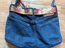 Levi's 527 Blue Jean Denim Handbag Cross Body Purse 5 Outer Pocket Women's