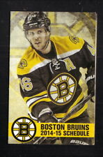David Krejci--Boston Bruins--2014-15 Pocket Schedule--Hallmark Health