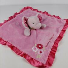 """Carters """"mommy loves me"""" Pink elephant Plush Baby Security Blanket Lovey Toy 15"""""""