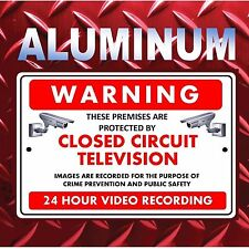 Warning Security Cameras In Use Home Video Surveillance Aluminum Sign Metal