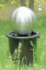 V2A Garden Floating Sphere Fountain Ball 11 13/16in Hammock Led Lighting