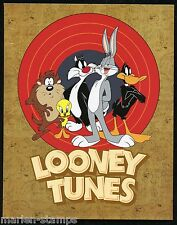Australia 2015 Looney Tunes Set Of Two Personalized Sheets In Folder Mint