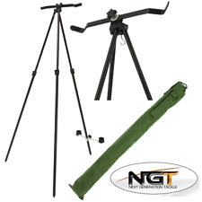 NGT Sea Fishing Beach Master Tripod System For 2 Rod And Reel Extendable In Case