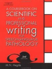A Coursebook on Scientific and Professional Writing for Speech-Language Path