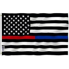 Fly Breeze 3x5 Foot Thin Blue Line And Red Usa Polyester Flag - Vivid Color Uv X